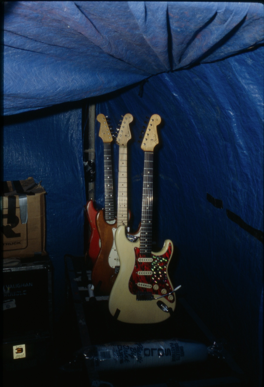 Some of SRV's Guitars - April 1990 (San Antonio, TX).